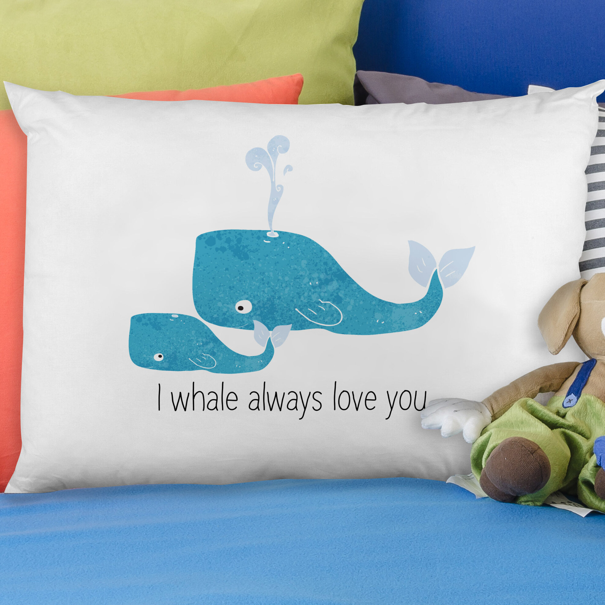 One Bella Casa I Whale Always Love You Pillow Case Wayfair