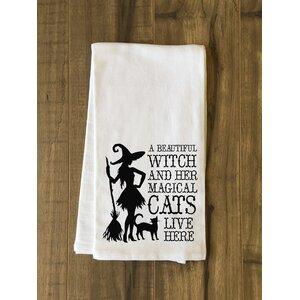 Beautiful Witch Tea Towel