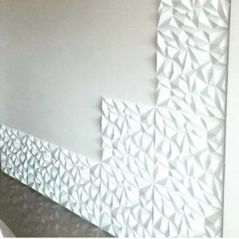 Orren Ellis Thaxted 19 7 X 19 7 Vinyl Wall Paneling In White Wayfair