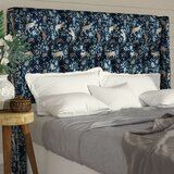 Flavia Tufted Linen Upholstered Wingback Headboard by Bloomsbury Market