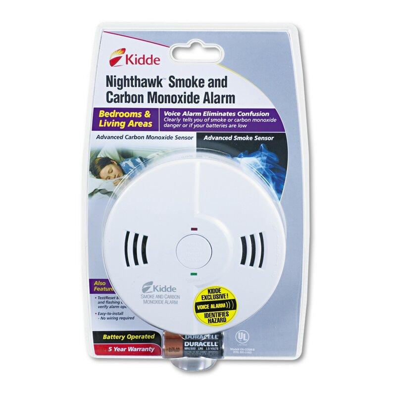 Kidde Night Hawk Combination Smoke Co Alarm With Voice And Alarm