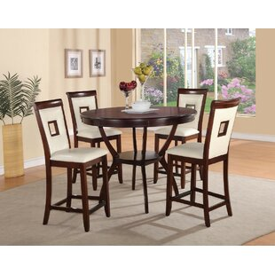 Cuellar Wooden 5 Piece Counter Height Dining Set