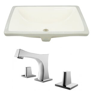 Best Reviews Ceramic Undermount Bathroom Sink with Faucet and Overflow ByAmerican Imaginations