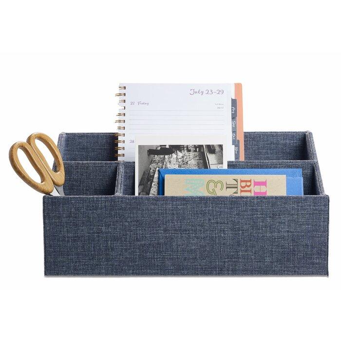 Indigo Desk Supplies Organizer