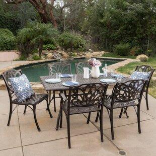 Three Posts Finlayson 7 Piece Outdoor Dining Set
