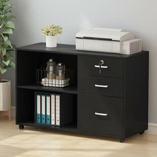 Ebern Designs Furry 3-Drawer Lateral Fili..