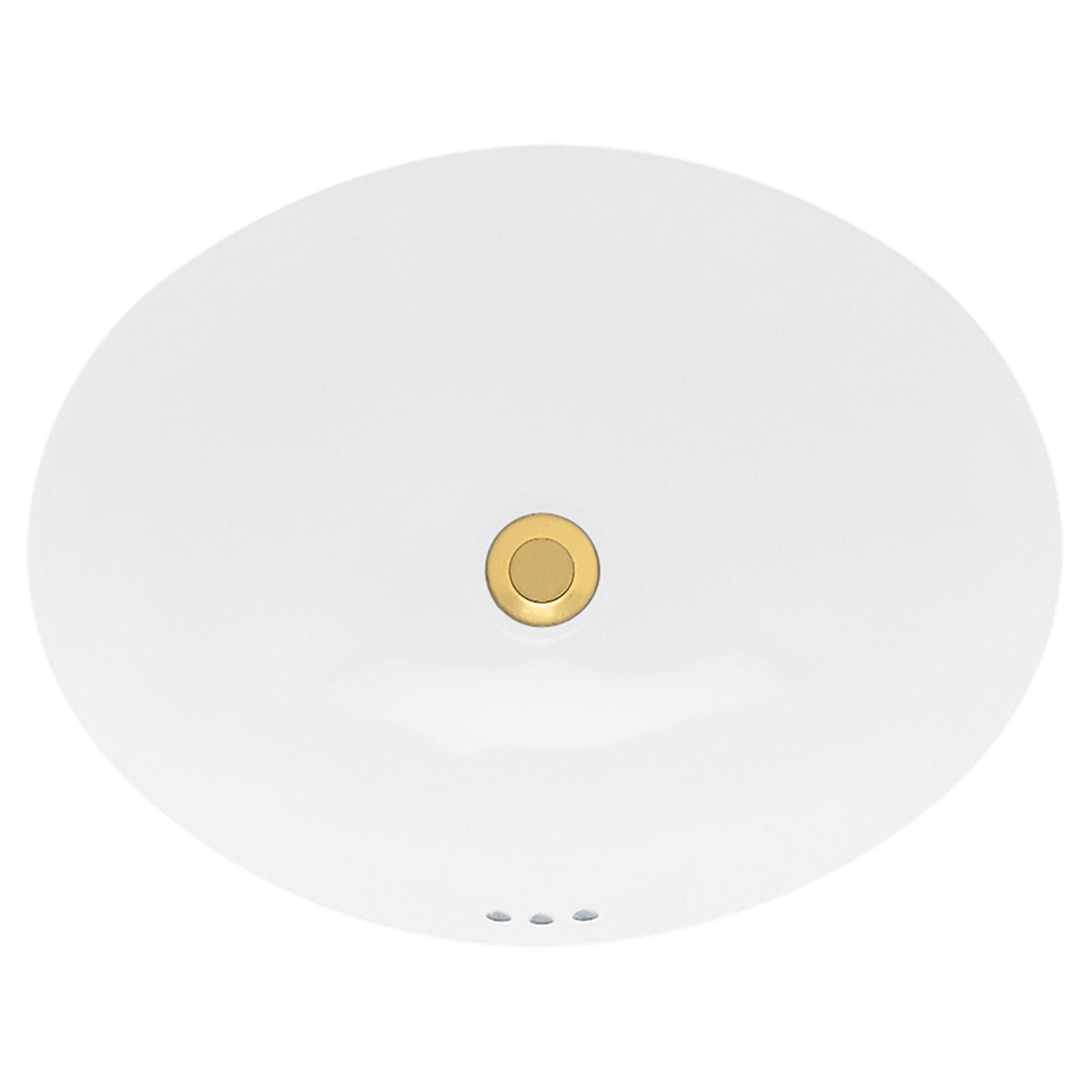 American Standard Ovalyn Bone Vitreous China Oval Undermount Bathroom Sink With Overflow Reviews Wayfair