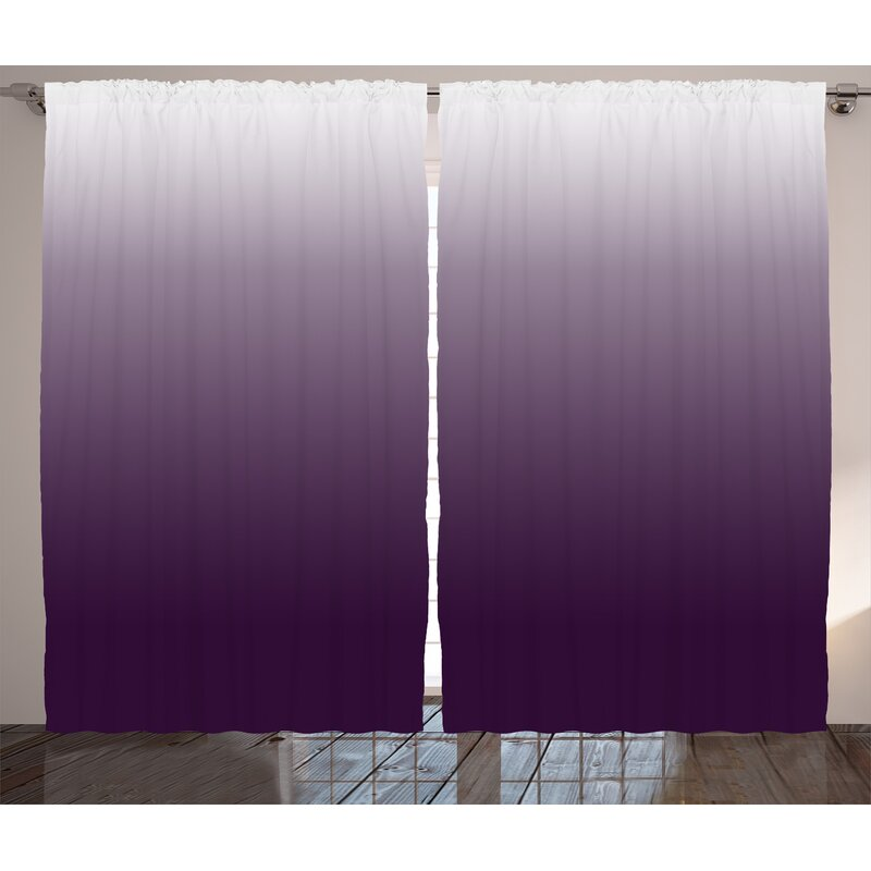 Photo Backdrops  Curtain Panels Circle Taffeta 54 X 108 with 4 pocket Purple