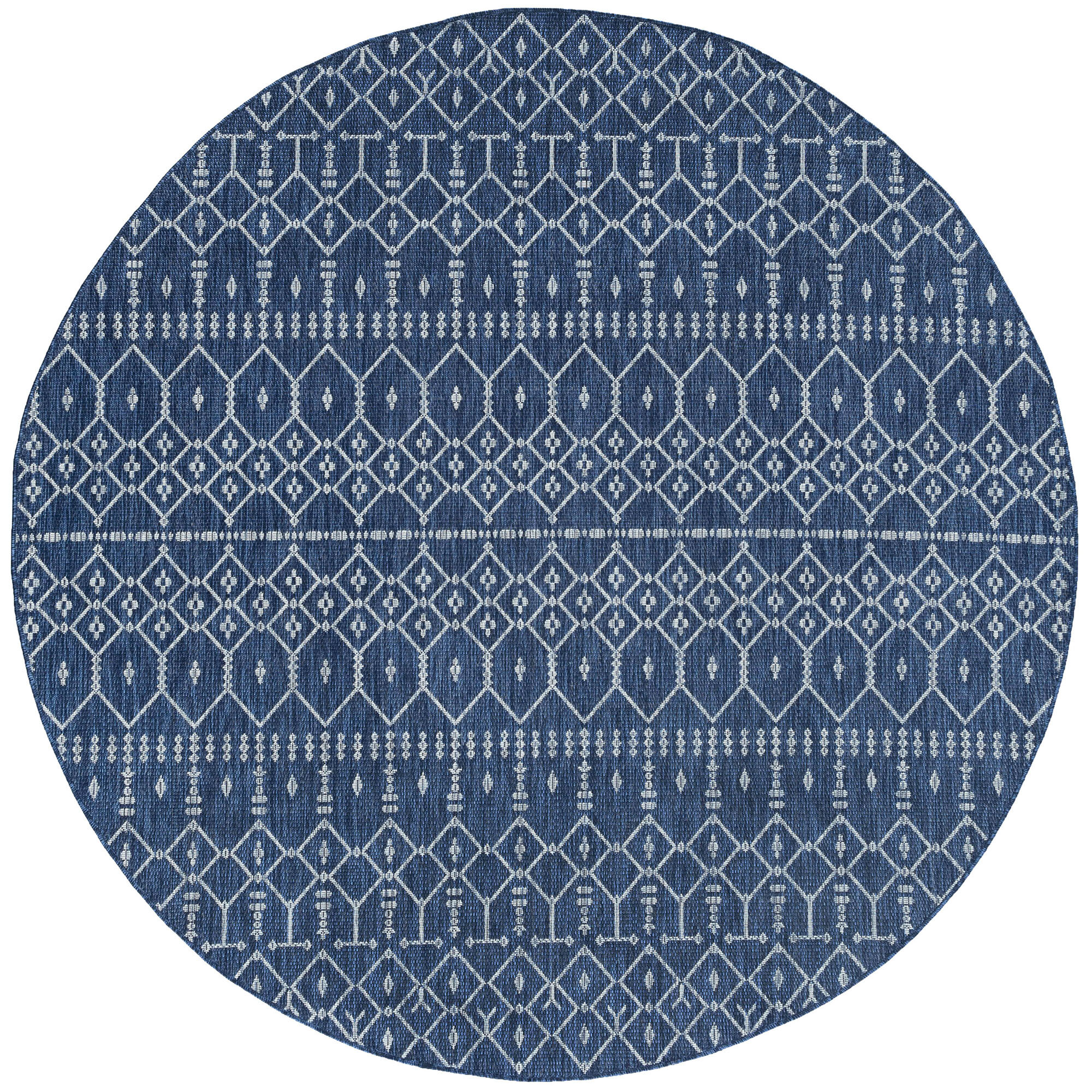 Outdoor Rug Blue Grey Plastic Large XL Small Carpet Oriental Circle Garden Rugs