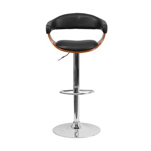 Julio Adjustable Height Swivel Bar Stool by Orren Ellis Wonderful
