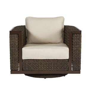 Asphod?le Wicker Patio Chair with Cushion by Gracie Oaks