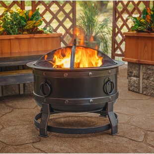 Pleasant Hearth Killian Steel Wood Burning Fire Pit New Deals