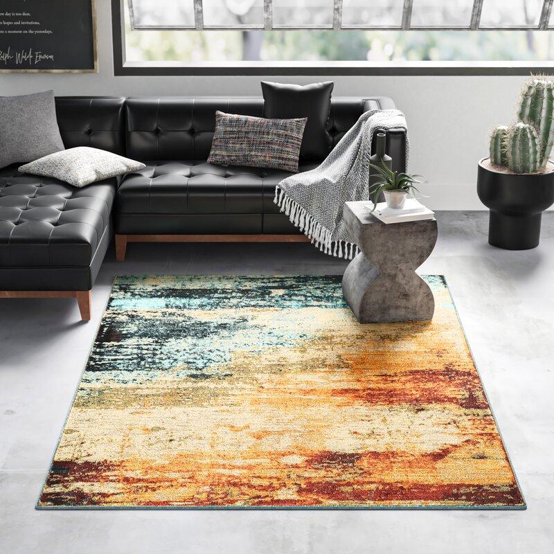 Trent Austin Design® Haugan Abstract Orange/Blue Area Rug