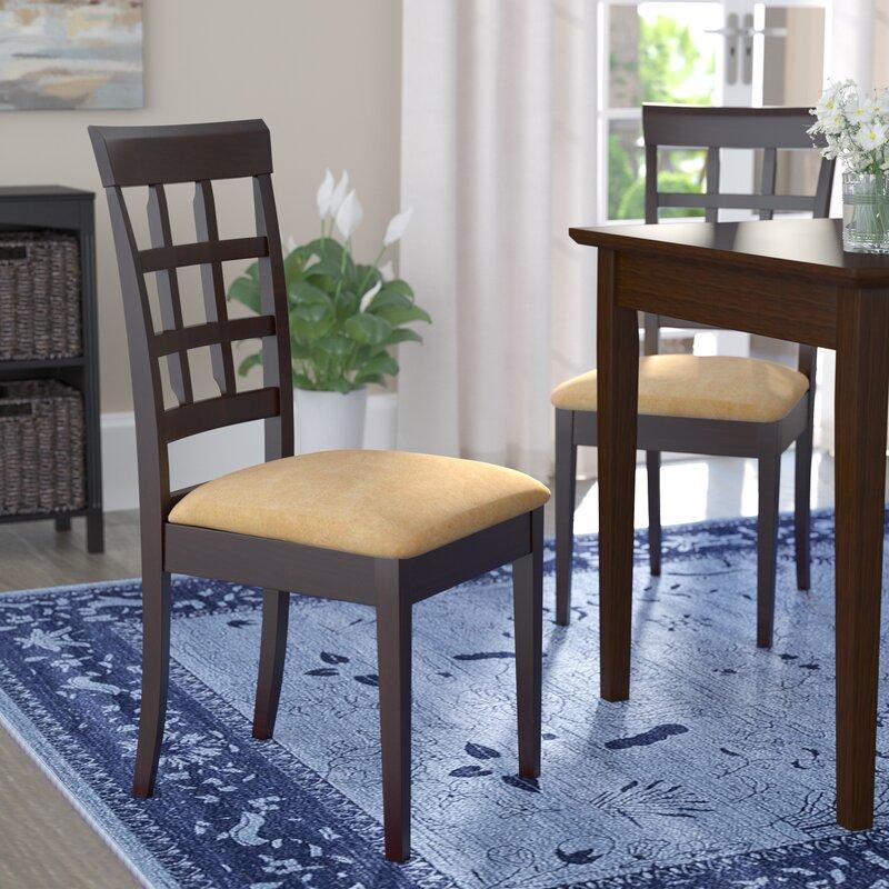 Criner Back Side Upholstered Dining Chair (Set of 2)