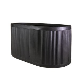 Vintage Ribbed Faux Lead Planter Box By World Menagerie
