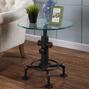 Daniella Metal Pipe Style End Table by Williston Forge