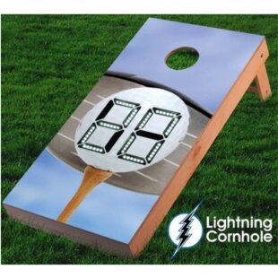 Lightning Cornhole Electronic Scoring Golf Ball Cornhole Board