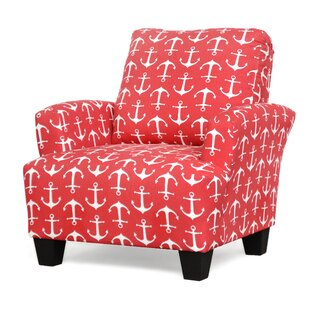 Red Patterned Accent Chair | Wayfair