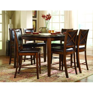 Leos 7 Piece Pub Table Set Red Barrel Studio