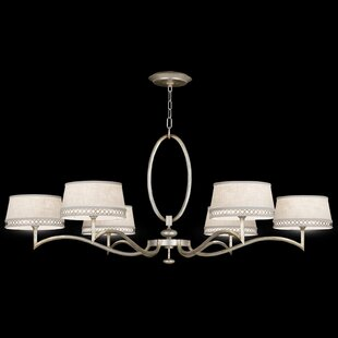 Fine Art Lamps Allegretto Gold 6-Light Shaded Chandelier