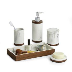 paradigm trends icon 5 piece bathroom accessory set