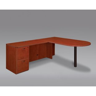 Fairplex Single Pedestal L-Shape Peninsula Executive Desk