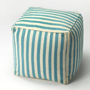 Sanibel Stripe Ottoman by Butler