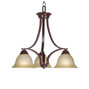 Marissa 3-Light Shaded Chandelier by Woodbridge Lighting