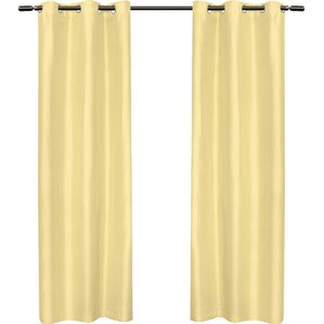 dupioni solid semisheer curtain panels set of 2