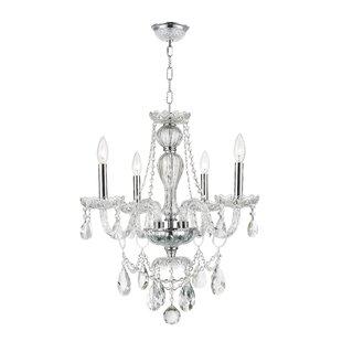 Astoria Grand Pulaski 4-Light Candle Style Chandelier