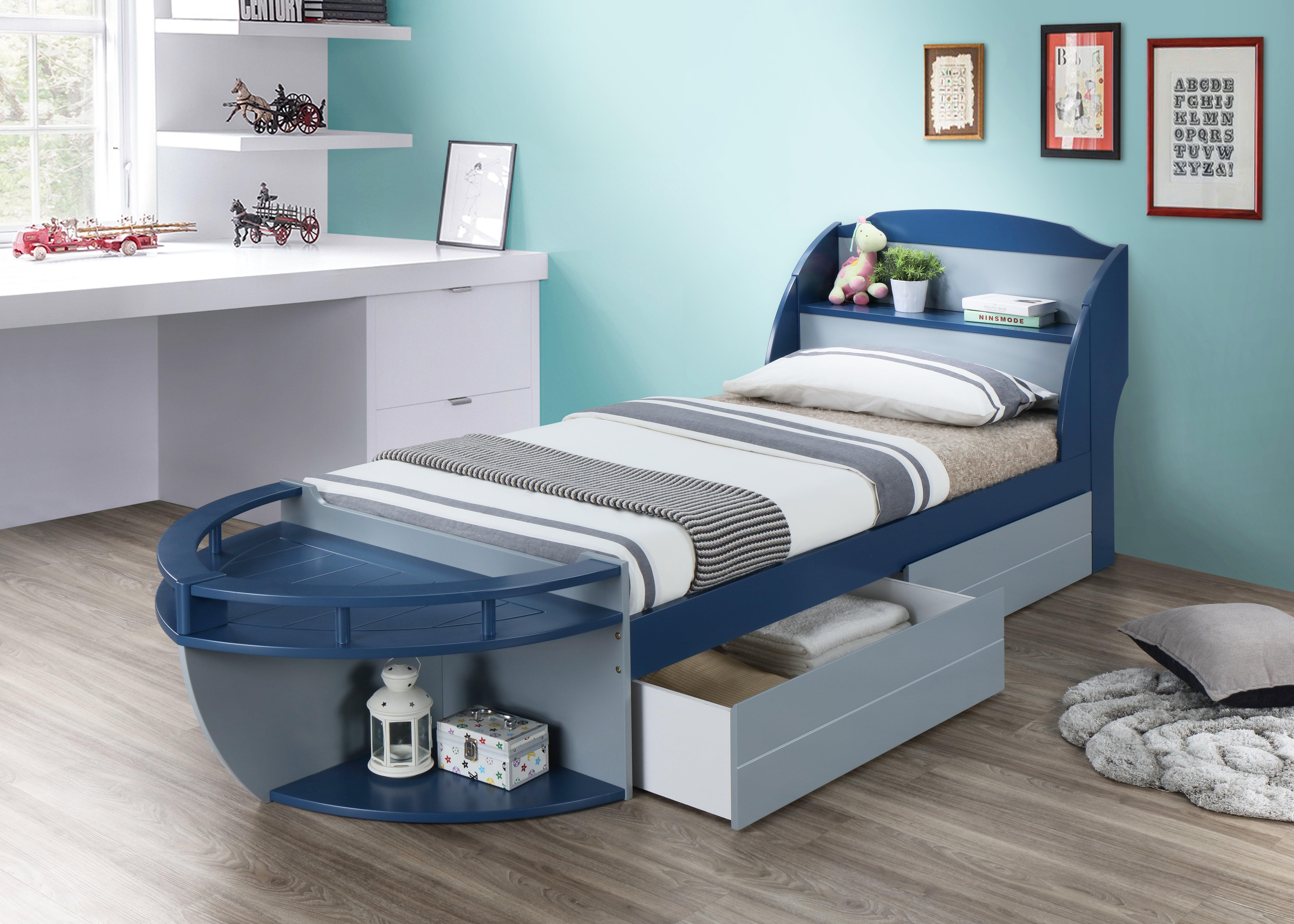 - Zoomie Kids Kincade Twin Sleigh Bed With Shelves & Reviews Wayfair