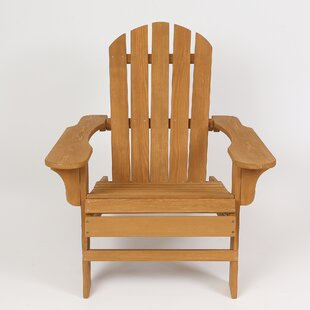 Highland Dunes Chartier Solid Wood Adirondack Chair