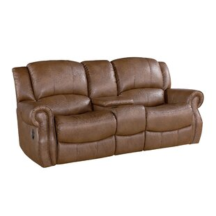 Baynes Leather Reclining Loveseat Darby Home Co