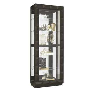 Ivy Bronx Greenberry Lighted Curio Cabinet