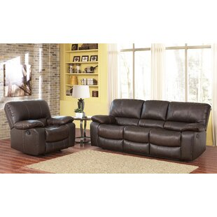 Husebye Reclining 2 Piece Leather Living ..