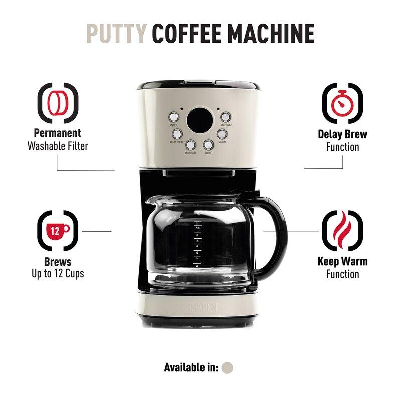 Haden Us 12 Cup Programmable Coffee Maker Reviews Wayfair
