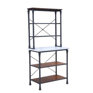 Gracie Oaks Magana Iron Baker's Rack