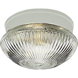 Ebern Designs Aumiller Polished Brass Semi Flush Mount