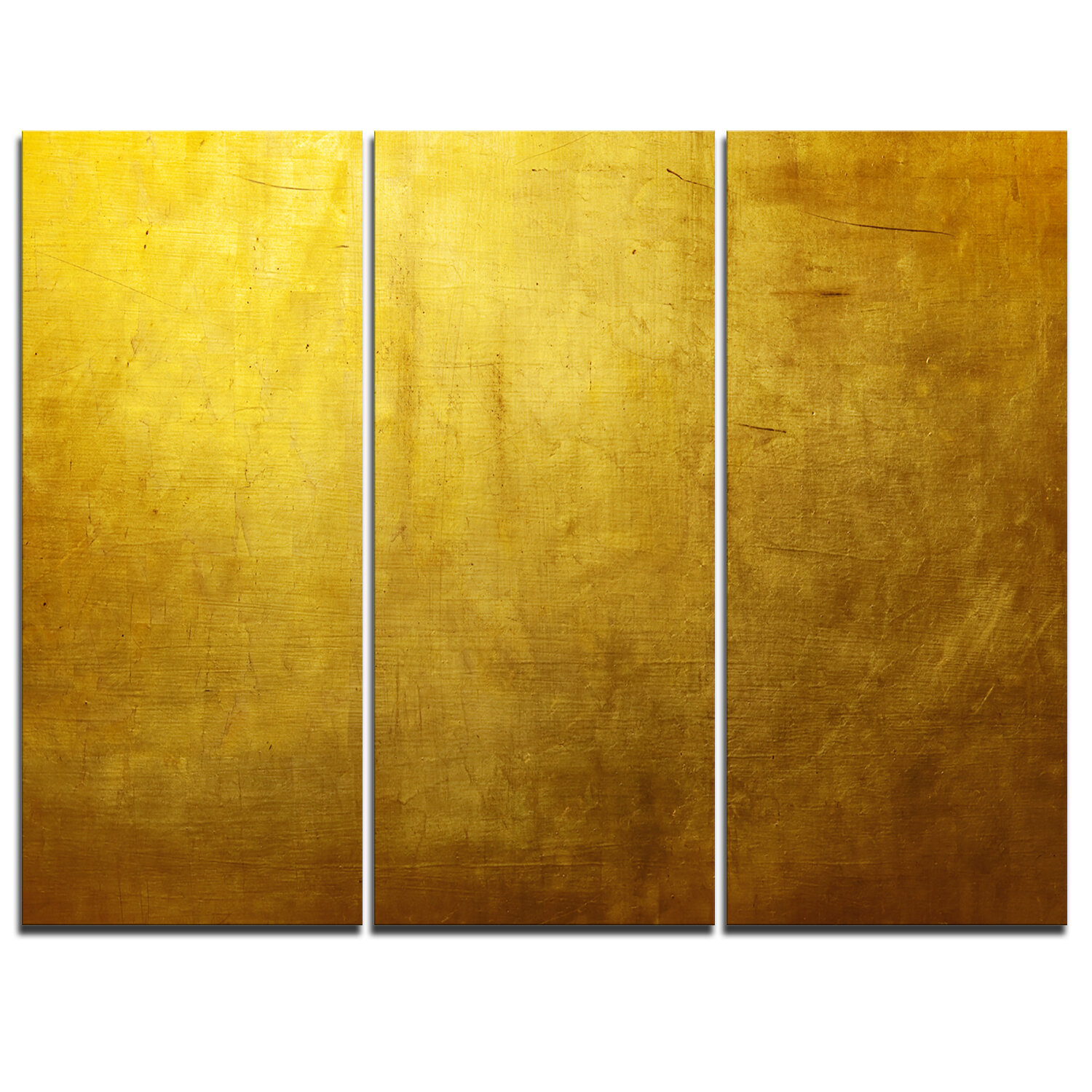 designart gold texture wallpaper 3 piece graphic art on wrapped