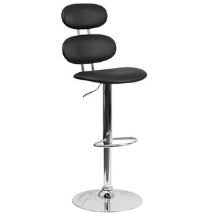 Norberg Adjustable Height Swivel Bar Stool Orren Ellis