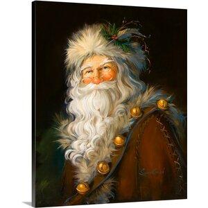 'Christmas Art 'Father Christmas' by Susan Comish Graphic Art Print