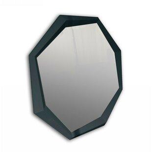 Brayden Studio Octagon Crocodile Lacquer Wall Mirror