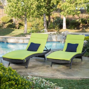 Rebello Sun Lounger Set with Cushions (Set of 2)