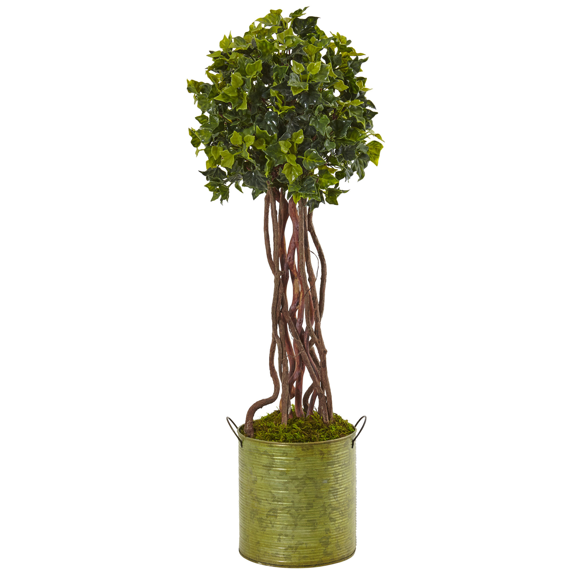 Gracie Oaks 22 5 Artificial Ivy Floor Ivy Topiary In Pot Wayfair