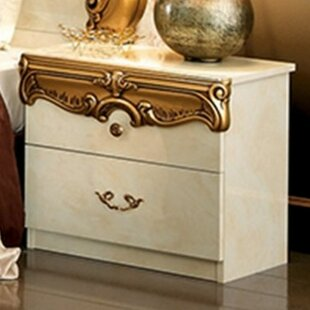 Alexzander 2 Drawer Nightstand by Astoria Grand