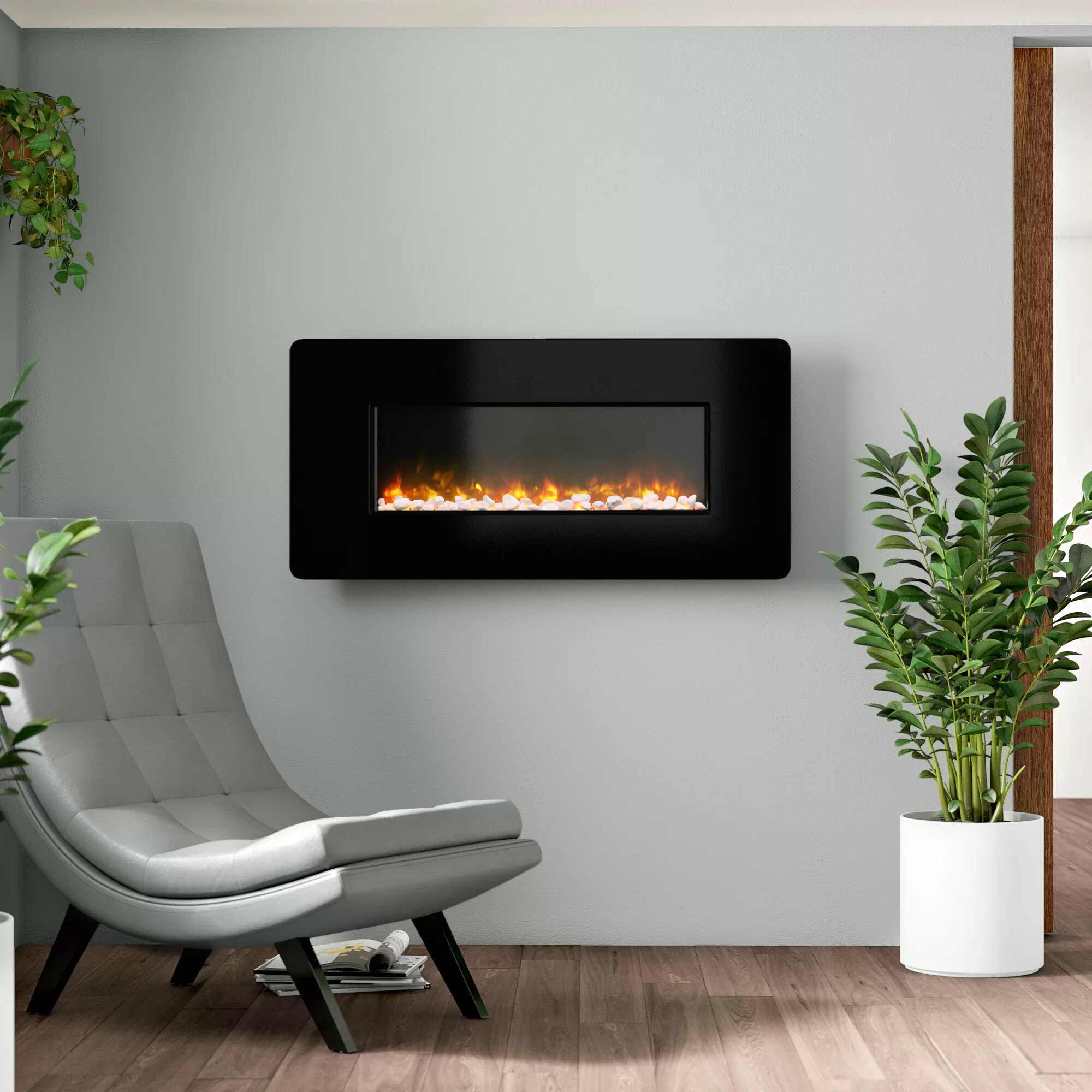 Wall Mounted Electric Fireplaces Stoves You Ll Love In 2020 Wayfair