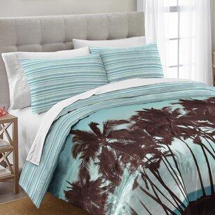 Rockview Palm Tree Cotton 3 Piece Comforter Set