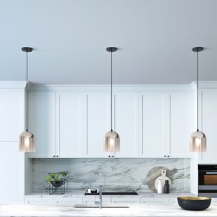 Look for Mccue 1-Light  LED Bell Pendant By Ebern Designs