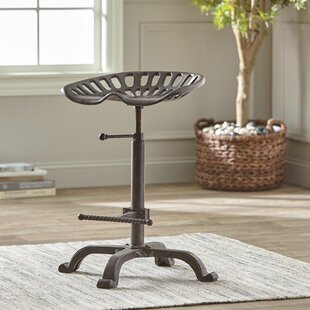 Isaiah Industrial Adjustable Swivel Bar Stool by Williston Forge Wonderful
