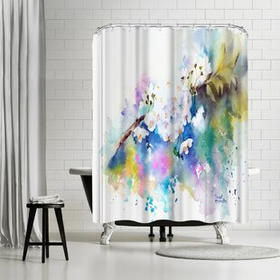 Rachel McNaughton Spring Blossom Shower Curtain by East Urban Home